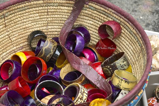 Colorful Bangels in a Basket