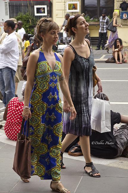 Women attending the Street Fair